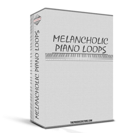 Melancholic Piano Loops product box